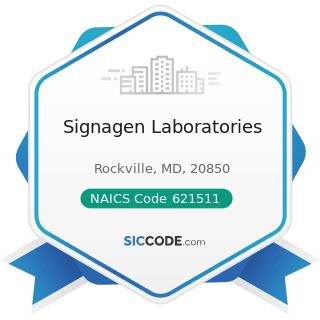 Signagen Laboratories - NAICS Code 621511 - Medical Laboratories