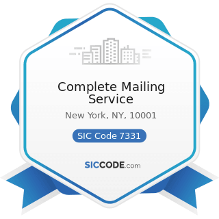 Complete Mailing Service - SIC Code 7331 - Direct Mail Advertising Services
