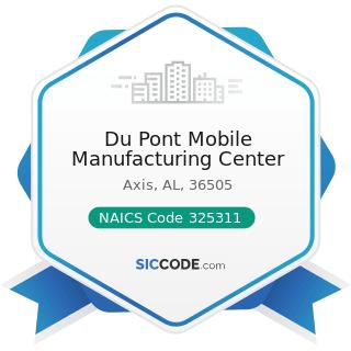 Du Pont Mobile Manufacturing Center - NAICS Code 325311 - Nitrogenous Fertilizer Manufacturing