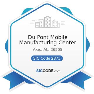 Du Pont Mobile Manufacturing Center - SIC Code 2873 - Nitrogenous Fertilizers