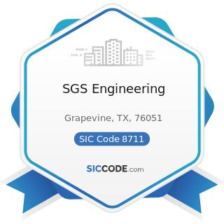 SGS Engineering - SIC Code 8711 - Engineering Services