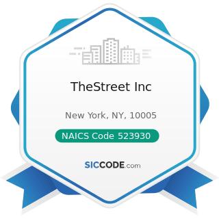 TheStreet Inc - NAICS Code 523930 - Investment Advice
