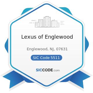 Lexus of Englewood - SIC Code 5511 - Motor Vehicle Dealers (New and Used)
