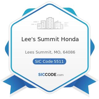 Lee's Summit Honda - SIC Code 5511 - Motor Vehicle Dealers (New and Used)