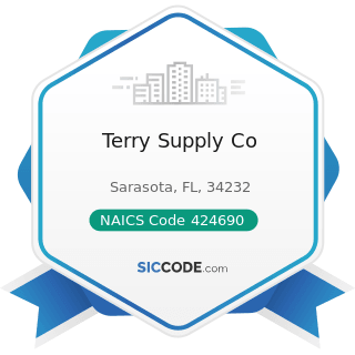 Terry Supply Co - NAICS Code 424690 - Other Chemical and Allied Products Merchant Wholesalers