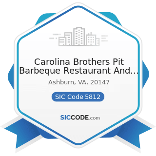 Carolina Brothers Pit Barbeque Restaurant And Catering - SIC Code 5812 - Eating Places