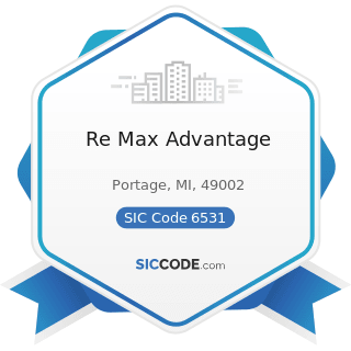 Re Max Advantage - SIC Code 6531 - Real Estate Agents and Managers