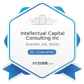 Intellectual Capital Consulting Inc - SIC Code 8742 - Management Consulting Services