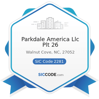 Parkdale America Llc Plt 26 - SIC Code 2281 - Yarn Spinning Mills