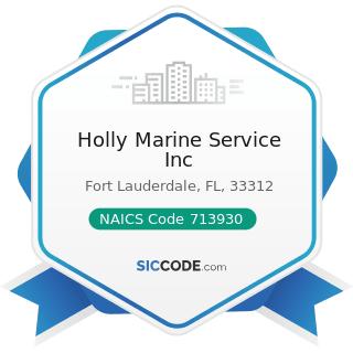 Holly Marine Service Inc - NAICS Code 713930 - Marinas