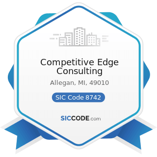Competitive Edge Consulting - SIC Code 8742 - Management Consulting Services