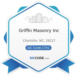 Griffin Masonry Inc - SIC Code 1741 - Masonry, Stone Setting, and Other Stone Work