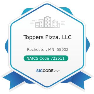 Toppers Pizza, LLC - NAICS Code 722511 - Full-Service Restaurants