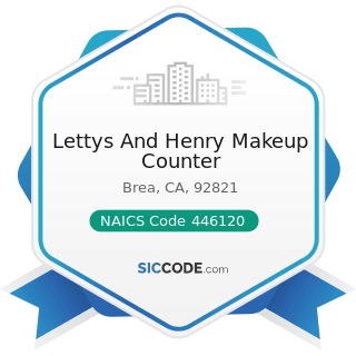 Lettys And Henry Makeup Counter - NAICS Code 446120 - Cosmetics, Beauty Supplies, and Perfume...