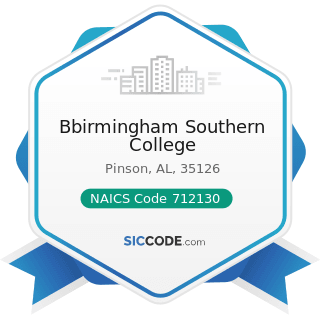 Bbirmingham Southern College - NAICS Code 712130 - Zoos and Botanical Gardens