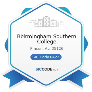 Bbirmingham Southern College - SIC Code 8422 - Arboreta and Botanical or Zoological Gardens