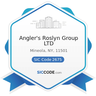 Angler's Roslyn Group LTD - SIC Code 2675 - Die-Cut Paper and Paperboard and Cardboard