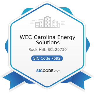 WEC Carolina Energy Solutions - SIC Code 7692 - Welding Repair