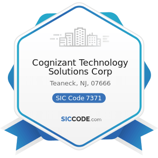 Cognizant Technology Solutions Corp - SIC Code 7371 - Computer Programming Services