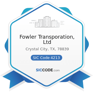 Fowler Transporation, Ltd - SIC Code 4213 - Trucking, except Local