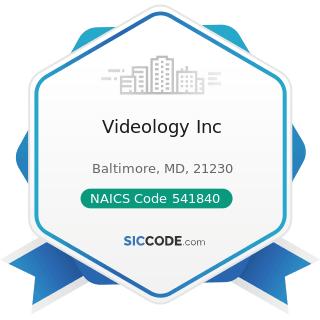 Videology Inc - NAICS Code 541840 - Media Representatives