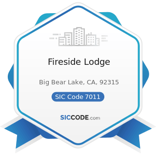 Fireside Lodge - SIC Code 7011 - Hotels and Motels