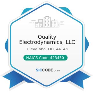 Quality Electrodynamics, LLC - NAICS Code 423450 - Medical, Dental, and Hospital Equipment and...