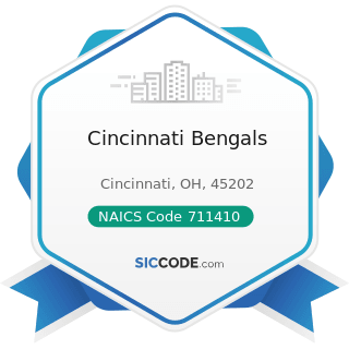 Cincinnati Bengals - NAICS Code 711410 - Agents and Managers for Artists, Athletes, Entertainers, and Other Public Figures