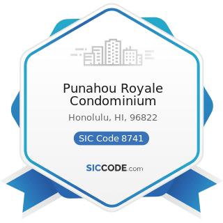 Punahou Royale Condominium - SIC Code 8741 - Management Services