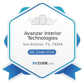 Avanzar Interior Technologies - SIC Code 3714 - Motor Vehicle Parts and Accessories