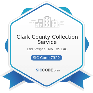 Clark County Collection Service - SIC Code 7322 - Adjustment and Collection Services