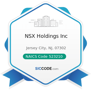NSX Holdings Inc - NAICS Code 523210 - Securities and Commodity Exchanges
