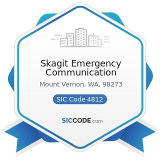 Skagit Emergency Communication - SIC Code 4812 - Radiotelephone Communications