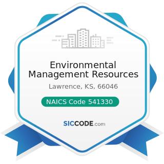 Environmental Management Resources - NAICS Code 541330 - Engineering Services