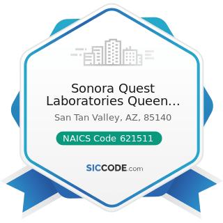 Sonora Quest Laboratories Queen Creek - NAICS Code 621511 - Medical Laboratories