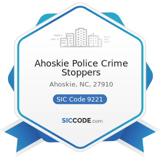 Ahoskie Police Crime Stoppers - SIC Code 9221 - Police Protection