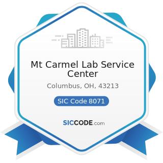 Mt Carmel Lab Service Center - SIC Code 8071 - Medical Laboratories