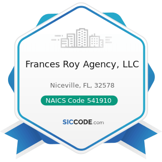 Frances Roy Agency, LLC - NAICS Code 541910 - Marketing Research and Public Opinion Polling