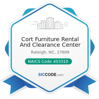 Cort Furniture Rental And Clearance Center - NAICS Code 453310 - Used Merchandise Stores