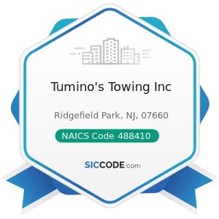 Tumino's Towing Inc - NAICS Code 488410 - Motor Vehicle Towing