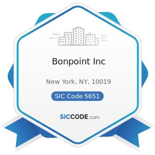 Bonpoint Inc - SIC Code 5651 - Family Clothing Stores