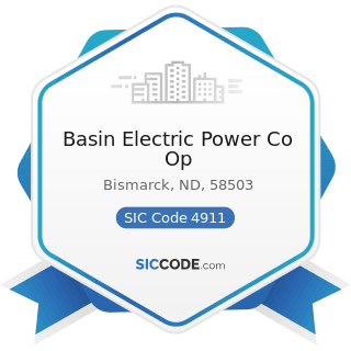 Basin Electric Power Co Op - SIC Code 4911 - Electric Services