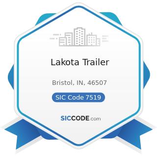 Lakota Trailer - SIC Code 7519 - Utility Trailer and Recreational Vehicle Rental