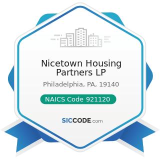 Nicetown Housing Partners LP - NAICS Code 921120 - Legislative Bodies