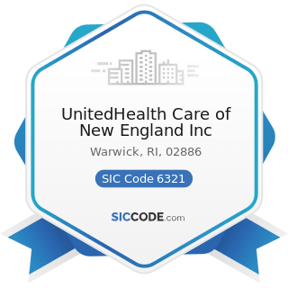 UnitedHealth Care of New England Inc - SIC Code 6321 - Accident and Health Insurance
