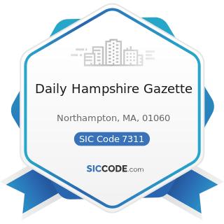 Daily Hampshire Gazette - SIC Code 7311 - Advertising Agencies
