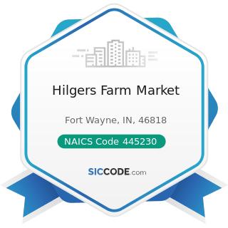 Hilgers Farm Market - NAICS Code 445230 - Fruit and Vegetable Markets