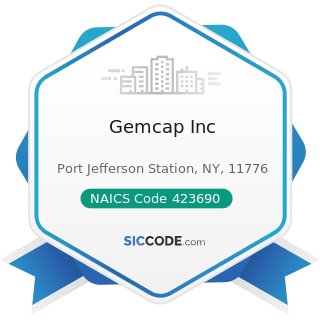 Gemcap Inc - NAICS Code 423690 - Other Electronic Parts and Equipment Merchant Wholesalers