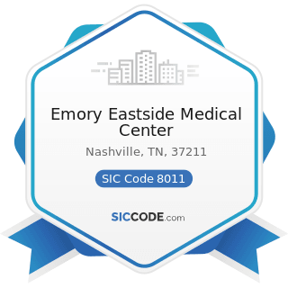 Emory Eastside Medical Center - SIC Code 8011 - Offices and Clinics of Doctors of Medicine