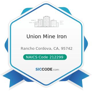 Union Mine Iron - NAICS Code 212299 - All Other Metal Ore Mining